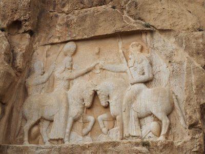 Relief bei den Felsengräber Naqsch-e Rostam bei Persepolis