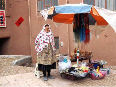 Marktfrau in Abyaneh / Iran